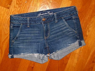 Excellent Womens American Eagle Stretch Denim Shorts Size 6!