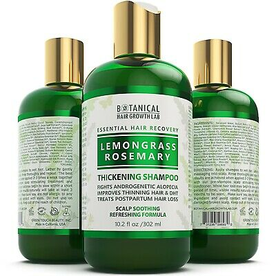 Anti Hair Loss Botanical Shampoo / Lemongrass - Rosemary 10.2 Oz