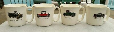 Chevy Chevrolet Sport Roadster Touring 490 Collectible Mugs 1912 1921 1926 1932