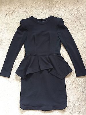 Sheike Long Sleeve Black Dress With Padded Shoulder Size 10 NEW RRP$199.95
