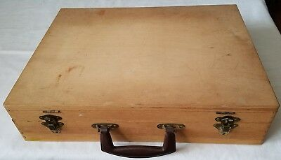 Vintage Wooden ARTISTS PAINTER'S BOX CASE