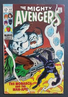 Avengers #62 • 1St Man-Ape • Nice Vg+ (4.5) • Black Panther, Infinity War Coming