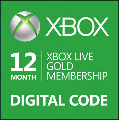 XBOX LIVE 12Month Gold Membership Code for 360 or One *FASTEST DIGITAL DELIVERY*