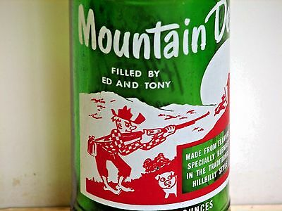 "Mountain Dew hillbilly ACL pop bottle, 10oz.; ""FILLED BY ED AND TONY"""
