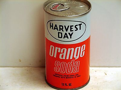 Harvest Day Orange Soda; Markets Inc.; Milan, IL; steel soda pop can