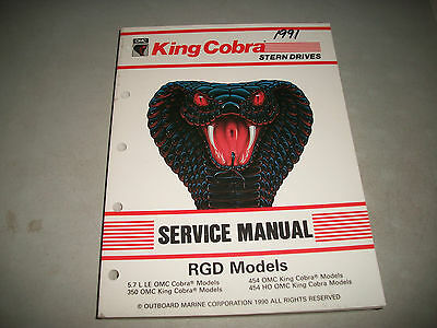 1991 Omc King Cobra Stern Drives Rgd  Service Manual 8 Cylinder Clean #507954