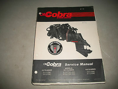 1986 Omc Cobra Stern Drives  Service Shop Manual 4-6-8 Cylinder Clean #507552
