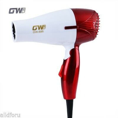 GUOWEI Mini Foldable Portable Compact electric Thermostatic Blower Hair Dryer