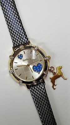 Boxer Dog Charm, Watch Blue and Gold