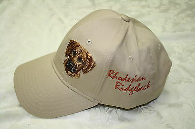 Rhodesian Ridgeback  Dog Embroidered On a Tan Structured Hat