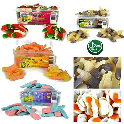 Jelly Molly Kids Sweets Tubs Fizzy Plain Gaint 5-10p HALAL Gummy Candy WHOLESALE