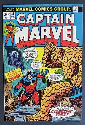 Captain Marvel #26 • 1St Thanos Cover • Sweet 8.5 (Vf+) Or Better • Infinity War