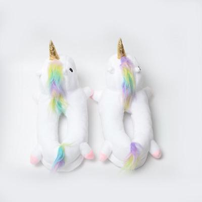 Unicorn NO Light Up Slippers Novelty One Size Most Women 12 Plush NEW Footwarmer
