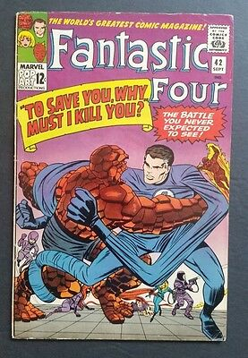 Fantastic Four #42 • Classic Thing-Mr. Fantastic Cover • Fn+ (6.5) • Marvel