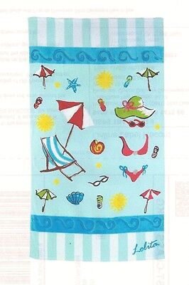 "Lolita ""Life is a Beach"" Beach Towel 40"" x 70"" New with Tag"
