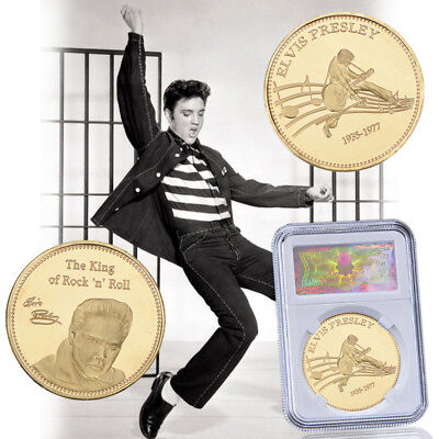 WR Elvis Presley 24k Gold Coin Commemorative Music Fan Gift for Worth Collection