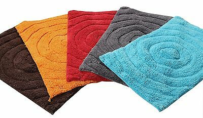 Swirl Tufted Cotton Bath Mat 50 x 80cm