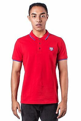 92ab67a6 Authentic NWT Kenzo Red Tiger Embroidered short sleeve men tipped polo shirt