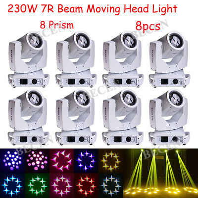 230w 7R Sharp Beam Moving Head Light 16CH Touch Screen Stage For DJ Party 8pcs