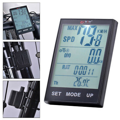 Digtal Wireless Cycle LCD Waterproof Bicycle Computer Bike Odometer Speedometer