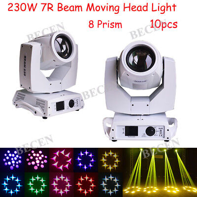 230w 7R Sharp Beam Moving Head Light 16CH Touch Screen Stage For DJ party 10pcs