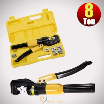 10 ton hydraulic crimper crimping tool wire battery cable lug terminal 9 dies picclick uk. Black Bedroom Furniture Sets. Home Design Ideas