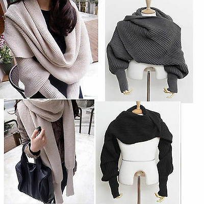 Women's Fashion Winter Warm Soft Wool Scarf Pretty Long Wrap Shawl Scarves US