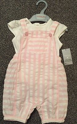 Baby Girls Dungarees Set 6-9 Months
