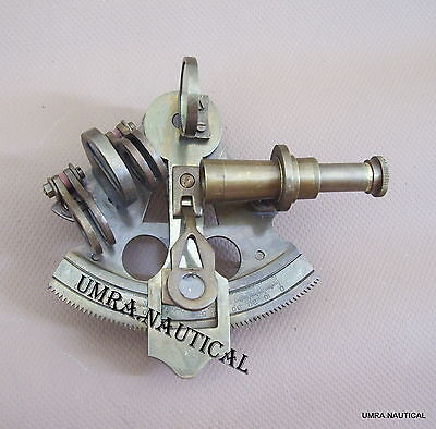 Nautical Sextant Brass Marine Ship Sextant Antique Maritime German Sextant 3''