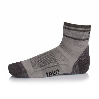 Teko Organic SIN3RGI Light Minicrew Womens Grey Outdoors Trekking Socks