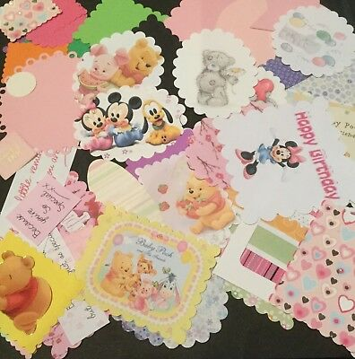 Bulk Card And Scrapbooking Embellishments.....Pack Of 50 Baby Girl