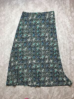 french laundry size 2X stretch geometric print long/maxi style skirt