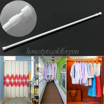 Adjustable Retractable Shower Curtain Hanging Rod Bathroom Window Tension Pole