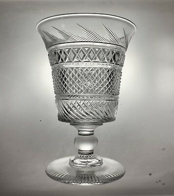 Incredible Anglo-Irish 19th Century Cut Crystal Trifle Vase Early Waterford