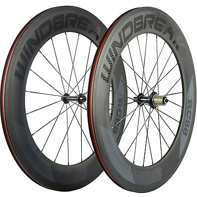 WINDBREAK Road Bike Wheels Clincher R13 88mm Bicycle Carbon Wheelset 3k Matte