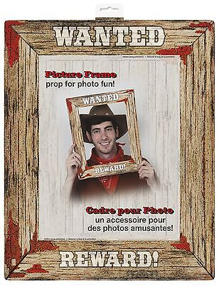 Rodeo Western Wanted Belohnung! Party Bilderrahmen Foto Requisite 33x40 cm