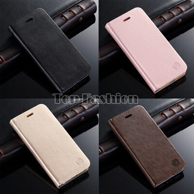 Luxury Stand Leather Wallet Ultra Thin Flip Case Cover For iPhone 5S 6S 7 Plus