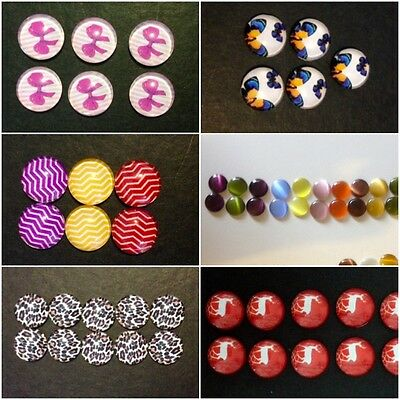 Glass Cabochon | 12mm | Pre made | Ready for DIY craft | CHOICE OF DESIGNS