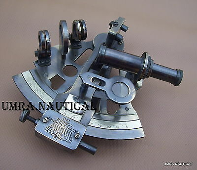 Solid Brass Sextant Nautical Maritime Astrolabe Marine Gift Ships Instrument 5''