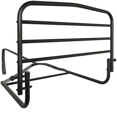 30 in. Safety Bed Hand Rail Fold Down Hide-away Feature Reversible Powder Steel