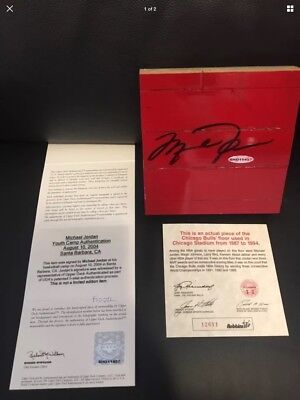 Michael Jordan Signed Game Used Floor