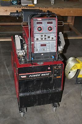 Lincoln Power Wave 455 welder WITH POWER FEEDER
