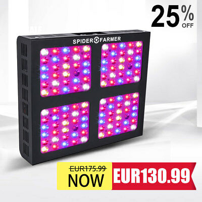 Spider Farmer Dimmbar 600W LED wachsen Licht Full Spectrum Für Indoor pflanze