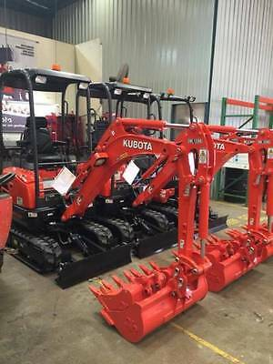 Mini Excavator For Hire 1.7T Kubota & Auger For Dry Hire - $250 A Day