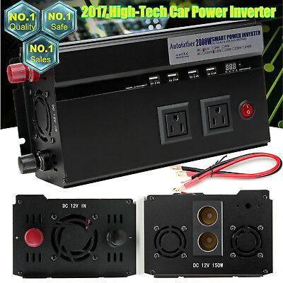 2000W/4000WATT Car DC 12V to AC 110V Power Inverter Electronic Charger Converter