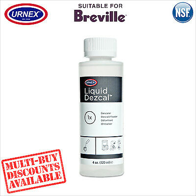 Urnex Liquid Descaler 120ml Descale for Breville Espresso Coffee Machine