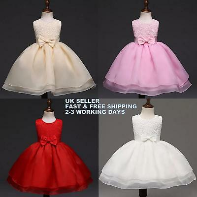 Beautiful Baby Girl Flower Dress/ Wedding Birthday Party Christening Dress