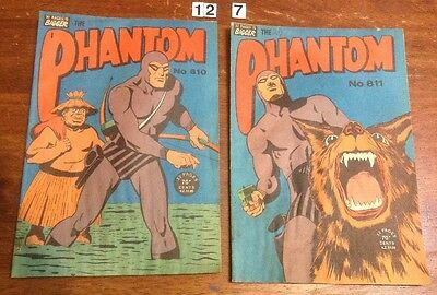 2 x Frew Phantom Comics from 1984. no.'s 810 & 811.