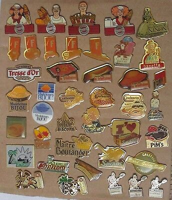 lot de 41 pin's / Boulangerie - patisserie - biscuit - gateau