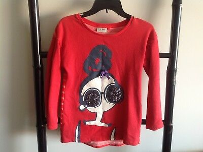 NEXT Uk Size 10 Girls Jumper Sequin Eyes EUC